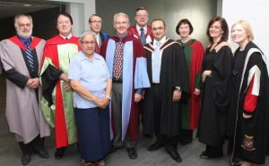 John Shepherd (Dean, Grad Studies), James Wright (SSAC/Music), Aboriginal Community Rep, Peter Ricketts (Provost), John Osborne (Dean or Arts & Social Sciences), Petr Cancura (Music Alumnus), Kim Matheson (VP Research & International), Suzanne Blanchard, Roseann Runte (President)