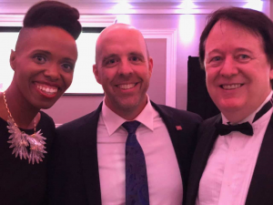 With Kellylee Evans and Carleton President Benoit Antoine Bacon at Chamberfest Gala (September 20, 2018)